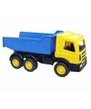 Luxe grote kiepwagen geel 70 cm