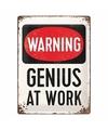 Magneet warning genius at work