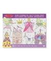 Meisjes prinsessen kleurboek met 50 paginas
