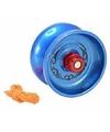Metalen jojo blauw 6 cm