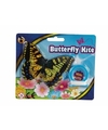 Mini gele vlinder vlieger 15cm