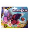Mini paarse vlinder vlieger 15cm