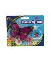 Mini roze vlinder vlieger 15cm