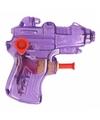 Mini waterpistool paars 7 cm