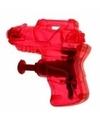 Mini waterpistool rood 7 cm
