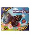 Mini zilveren vlinder vlieger 15cm
