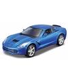 Modelauto chevrolet corvette blauw 1 32