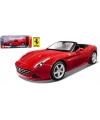 Modelauto ferrari california t cabrio rood 1 18