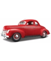 Modelauto ford deluxe coupe 1939 1 18