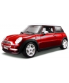 Modelauto mini cooper rood 1 18
