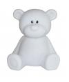 Nachtlampje beer wit 18 cm
