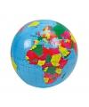 Opblaas mega wereldbol 100 cm