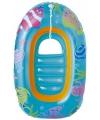 Opblaasbaar bootje met doorzichtige bodem blauw
