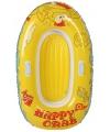 Opblaasbaar roeibootje happy crab geel