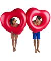 Opblaasbaar rood hart zwemband 2 stuks