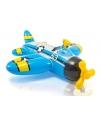 Opblaasbaar vliegtuig blauw 132 cm