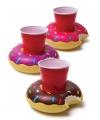 Opblaasbare donut beker houders 3 stuks