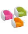 Opblaasbare intex stoel wit roze
