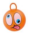 Oranje skippybal met gezicht 45cm