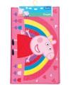 Peppa pig speelkleed met regenboog