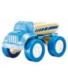 Pickup truck bamboe speelgoed auto 8 cm