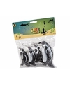 Pingu n familie gemaakt van rubber 4st