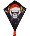 Piraten vlieger met staart 50 x 70 cm