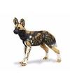 Plastic afrikaanse wilde hond 9 cm