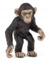 Plastic baby chimpansee 5 cm