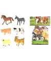 Plastic boerderijdieren 6 stuks