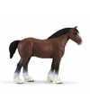 Plastic clydesdale paard hengst 13 cm