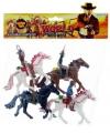 Plastic cowboy op paard 4 stuks