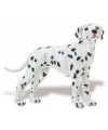 Plastic dalmatier hond 9 cm