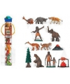 Plastic figuren prehistorisch 12 stuks