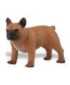 Plastic franse bulldog hond 7 cm