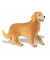 Plastic golden retriever hond 10 cm