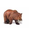 Plastic grizzlybeer 8 cm met zalm