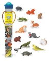 Plastic huisdieren 12 stuks