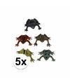 Plastic kikkers 5 cm set 5 stuks