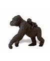 Plastic laagland gorilla met baby 11 cm