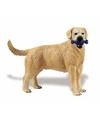 Plastic labrador retriever hond 9 cm met bot
