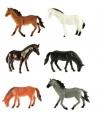 Plastic paarden 6 stuks