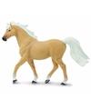 Plastic palomino mustang paard hengst 14 cm