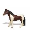 Plastic pinto paard merrie 12 cm