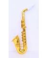Plastic saxofoon goud 37 cm