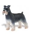 Plastic schnauzer hond 7 cm