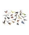 Plastic vogels 24 stuks