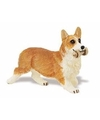 Plastic welsh corgi pembroke hond 6 cm met bot