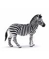 Plastic zebra 11 cm