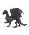 Plastic zwarte draak 15 cm
